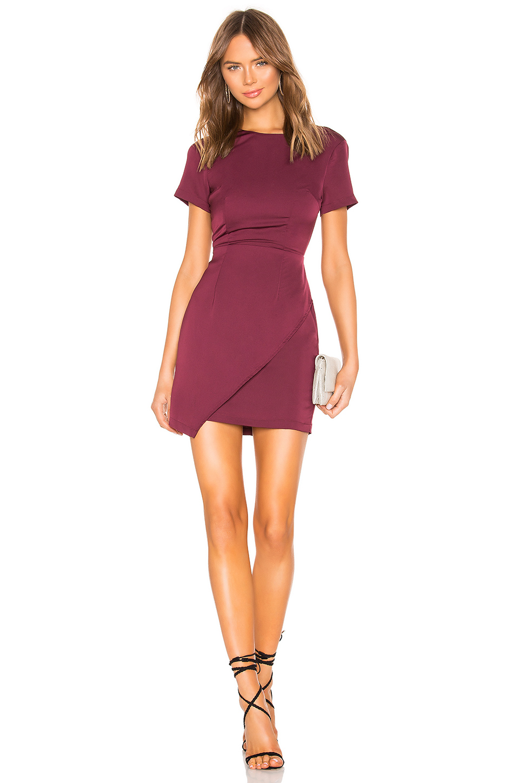 d026c3f0ca92 About Us Shayla Mini Dress In Burgundy. In Plum