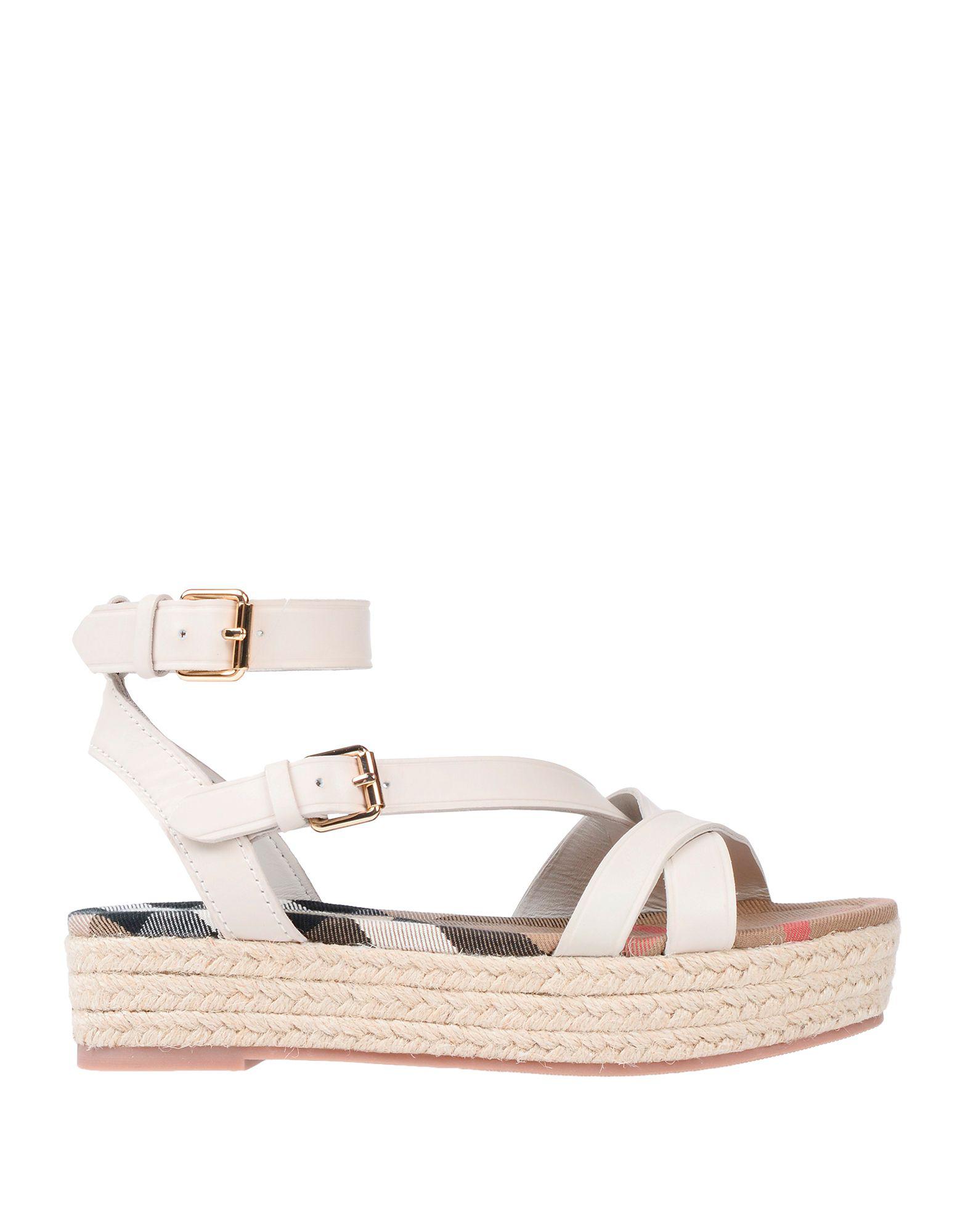 decfc75b40f4 Burberry Sandals In White