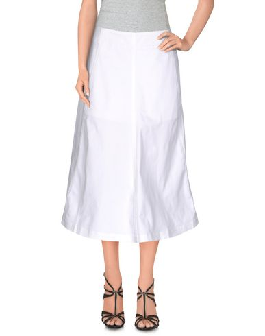 T By Alexander Wang Midi Skirts In White