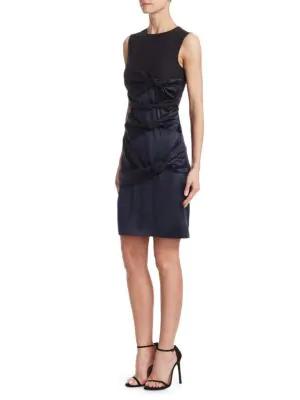 Victoria Victoria Beckham Women's Twisted Sleeveless Knot Dress In Black/navy