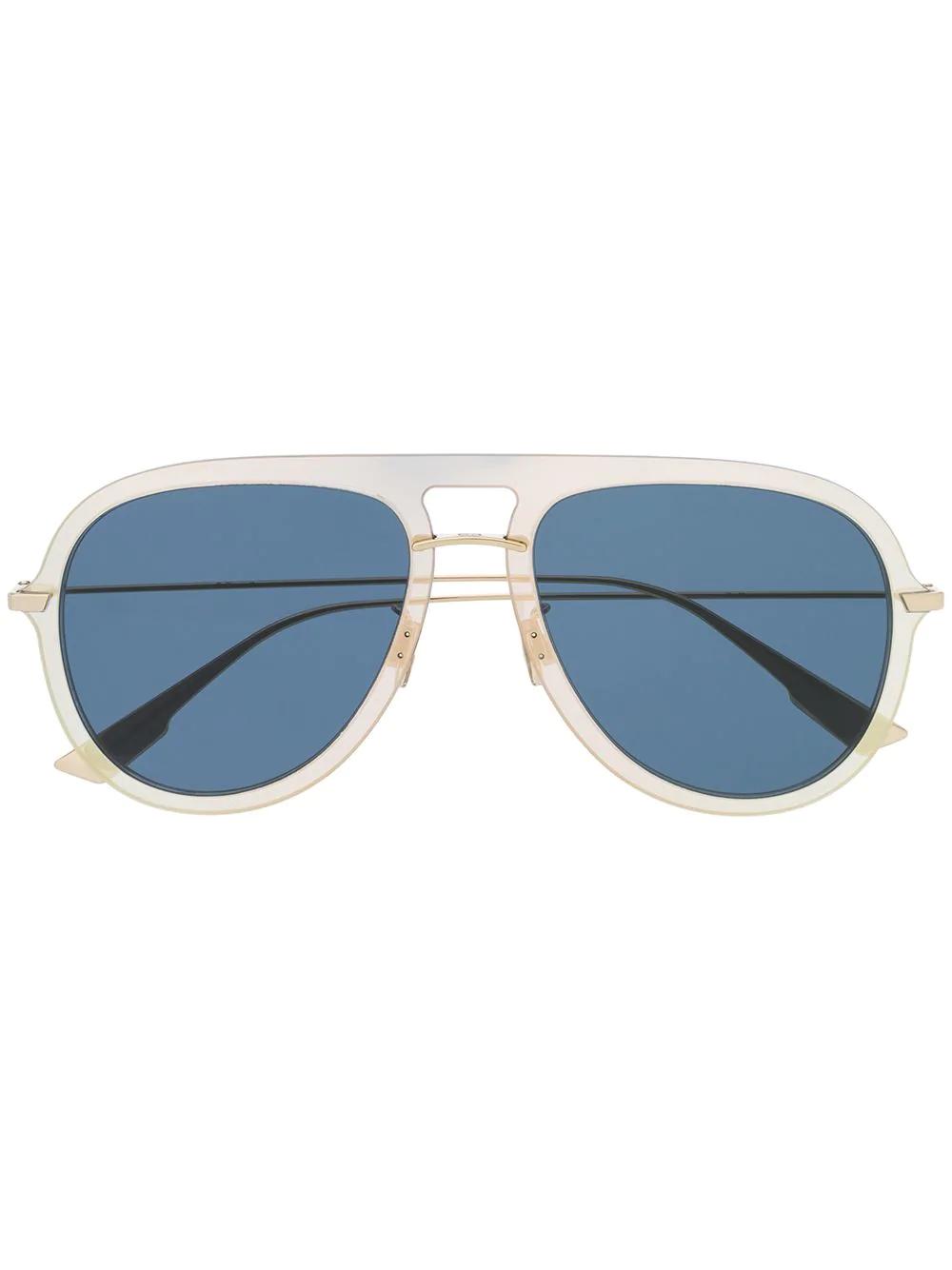 a686bddf3963 Dior Eyewear Klassische Pilotenbrille - Gold. Farfetch