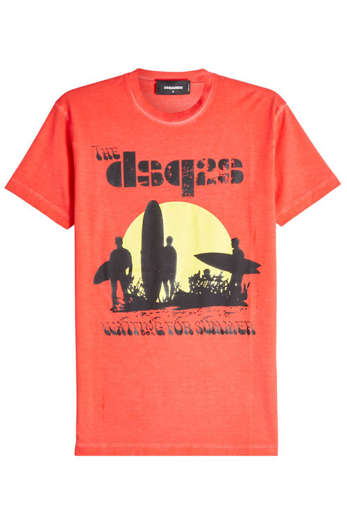 Dsquared2 Waiting For Summer Printed T-shirt In Red