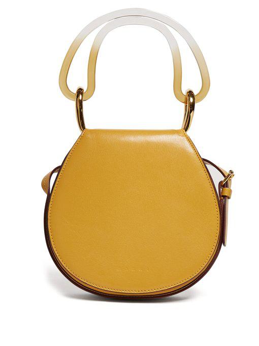Marni - Melville Leather Cross Body Bag - Womens - Yellow