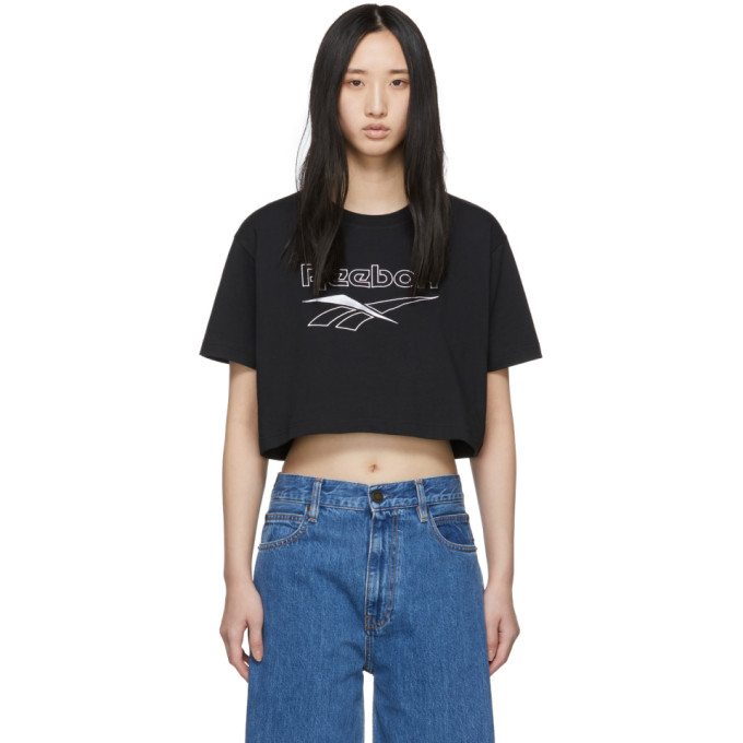 Reebok Classics Black Crop Classic T-shirt