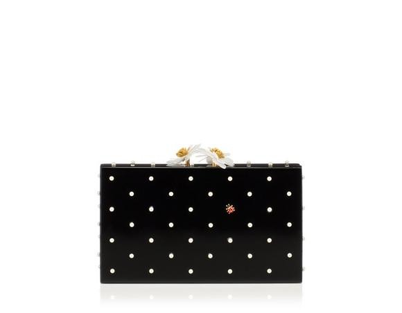Charlotte Olympia 'Fresh Pandora' Pearl Ladybug Embellished Perspex Clutch In Black