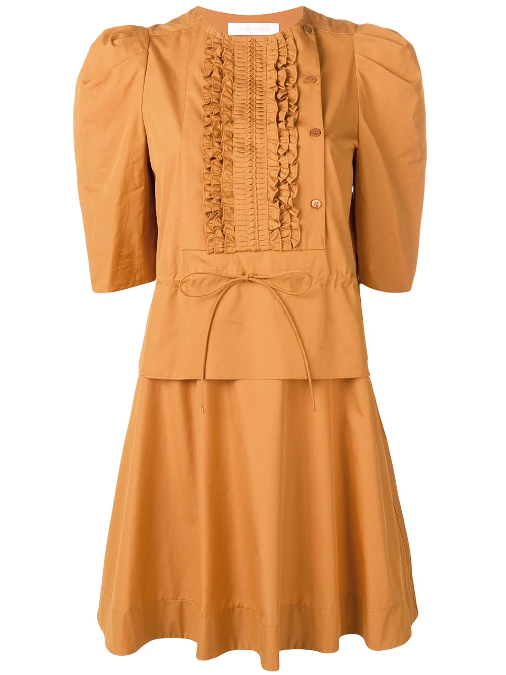 ec200025350 See By ChloÉ Puff Sleeve Dress - Brown