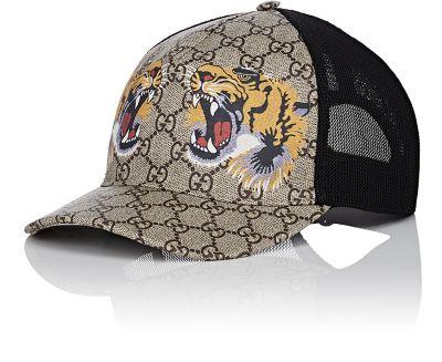 Fashion Designer Hats Tigers-Print Gg Supreme Baseball Hat d434e9f5865c