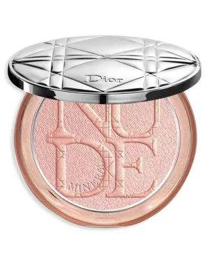 Dior Skin Nude Luminizer Shimmering Glow Powder In 02 Pink Glow