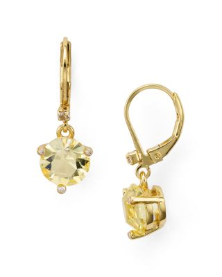 Kate Spade New York Prong Set Drop Earrings In Yellow/gold