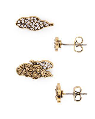 Marc Jacobs PavÉ Cloud Stud Earrings In Crystal/gold