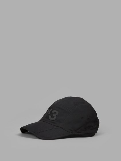 Y-3 Logo Print Cap In Black