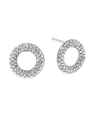 Michael Kors Brilliance PavÉ Crystal Stud Earrings/silvertone