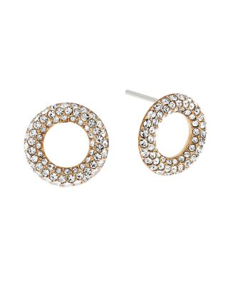 Michael Kors Brilliance PavÉ Crystal Stud Earrings/goldtone