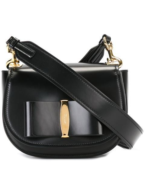 Salvatore Ferragamo Vara Leather Crossbody Bag - Black