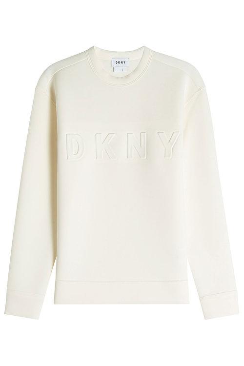 Dkny Sweatshirt With Logo In White