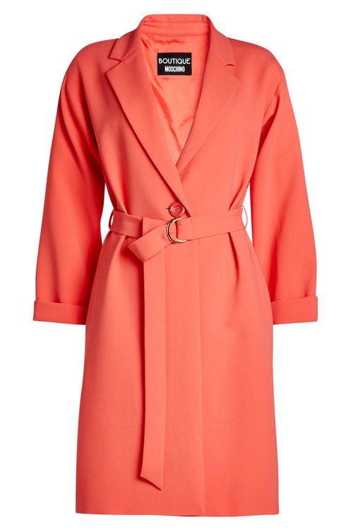 Boutique Moschino Crepe Jacket In Orange