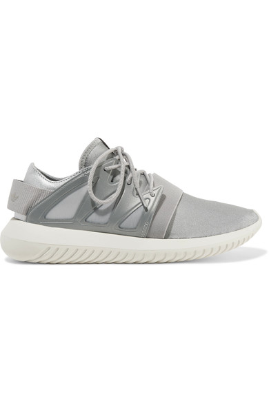 Adidas Originals Tubular Viral Neoprene Sneaker, Metallic Silver/core White