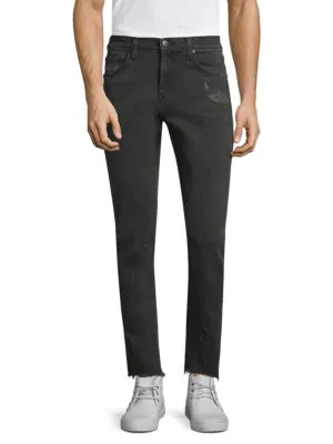 J Brand Tyler Tapered Slim-fit Ripped Jeans In Glauconite
