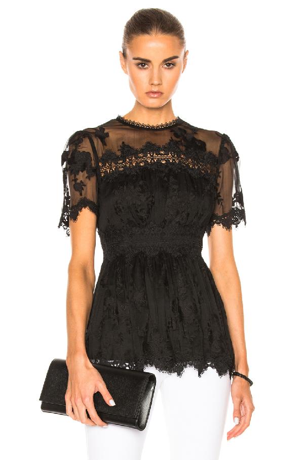 Zimmermann - Tropicale Antique Silk Georgette Blouse - Womens - Black In Black,floral