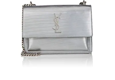 673bab52ca7 Saint Laurent Monogram Sunset Medium Chain Shoulder Bag, Silver ...