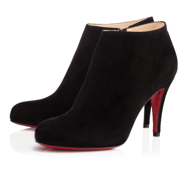 Christian Louboutin Bella Suede 120Mm Red Sole Bootie, Black