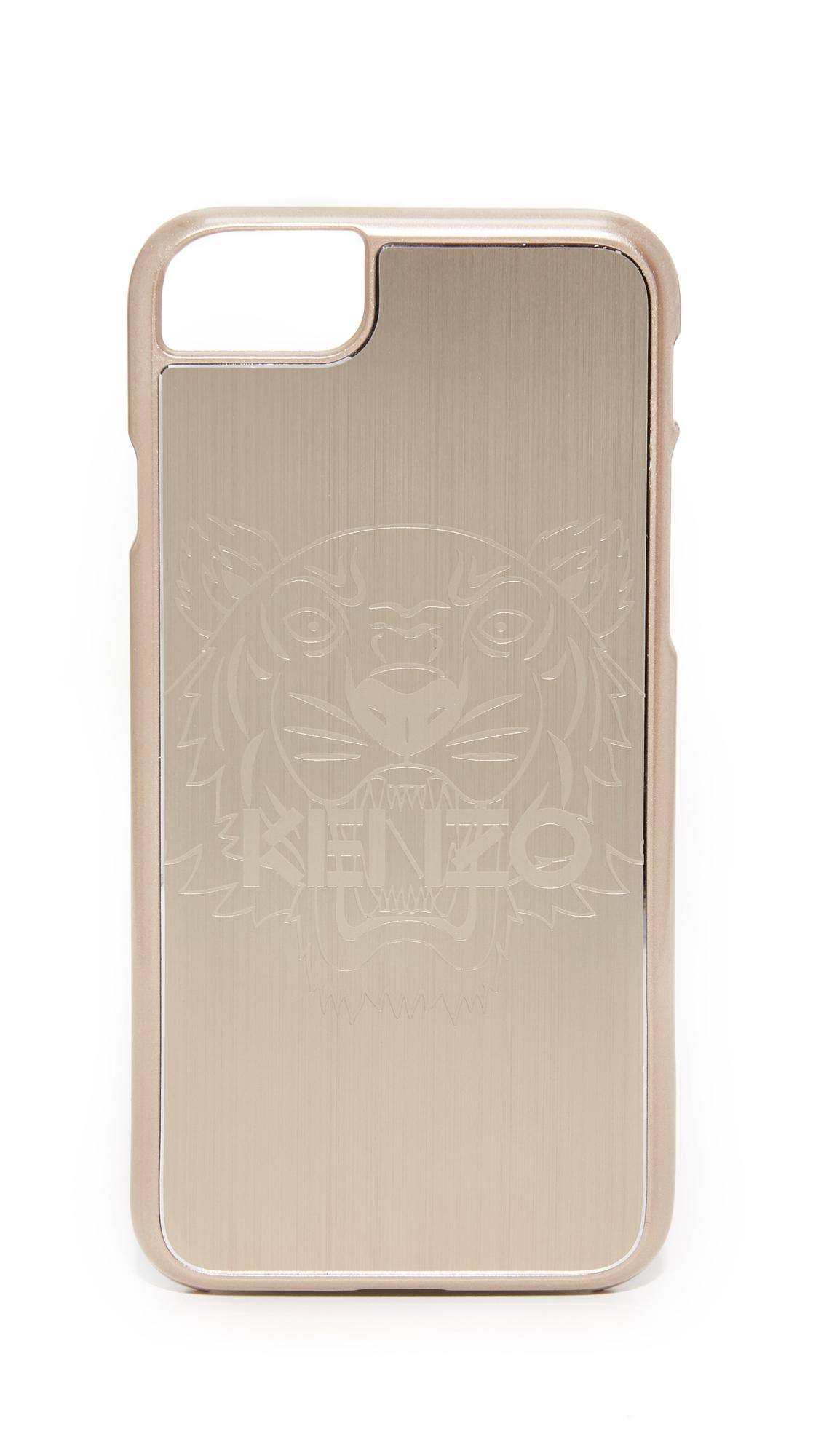 Kenzo Metallic Tiger Head Iphone 7 Case In Gold