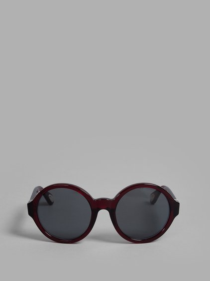 Ann Demeulemeester Red Sunglasses