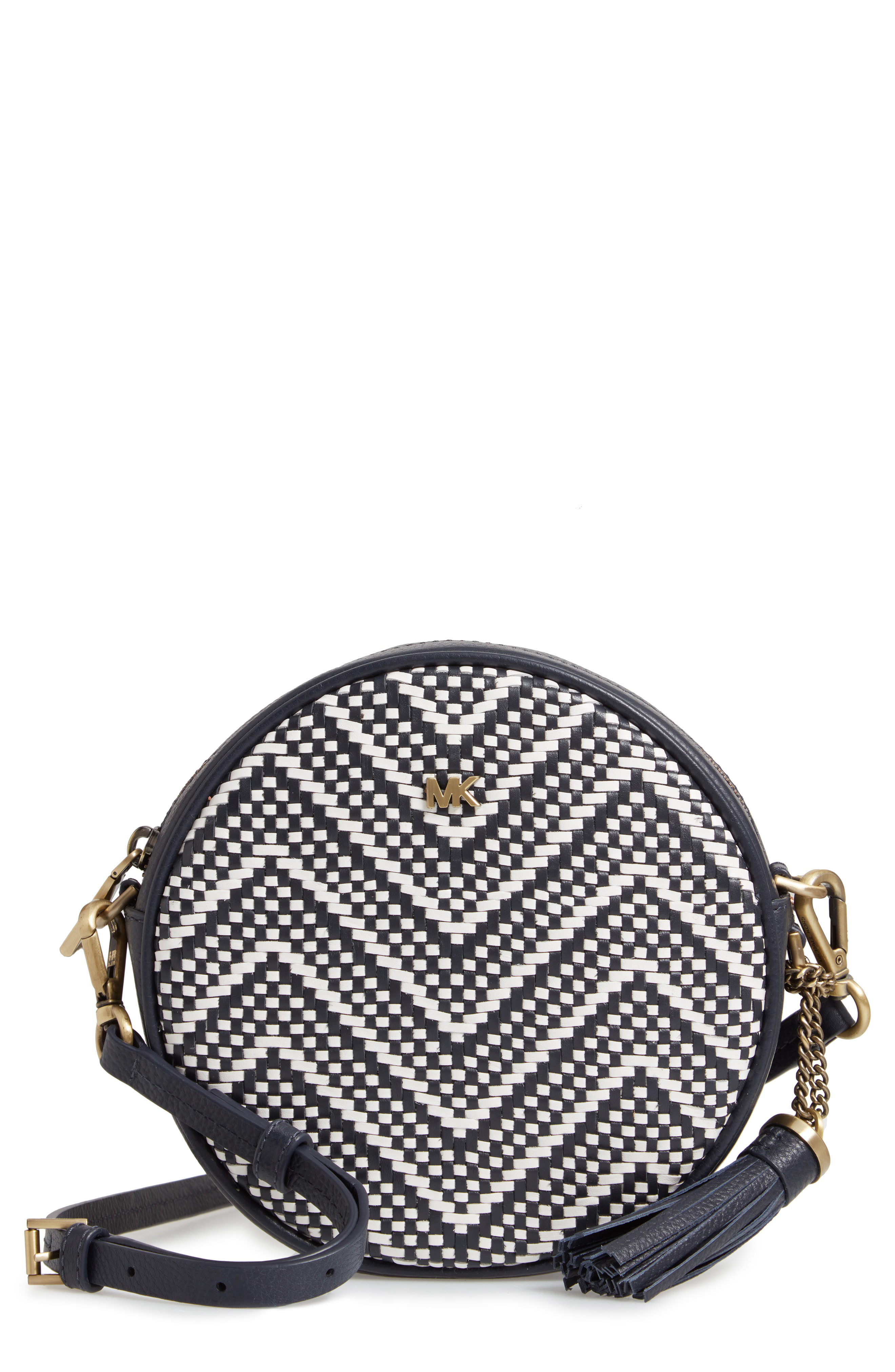 a248aecb4a4d Michael Michael Kors Medium Leather Canteen Crossbody Bag In Admiral/ Optic  White
