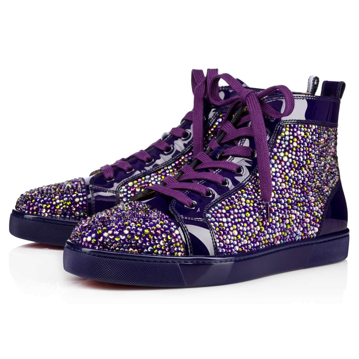 best website 3ce5f a2600 Louis Strass Men's Flat Version Purple Pop Strass - Men Shoes - Christian  Louboutin