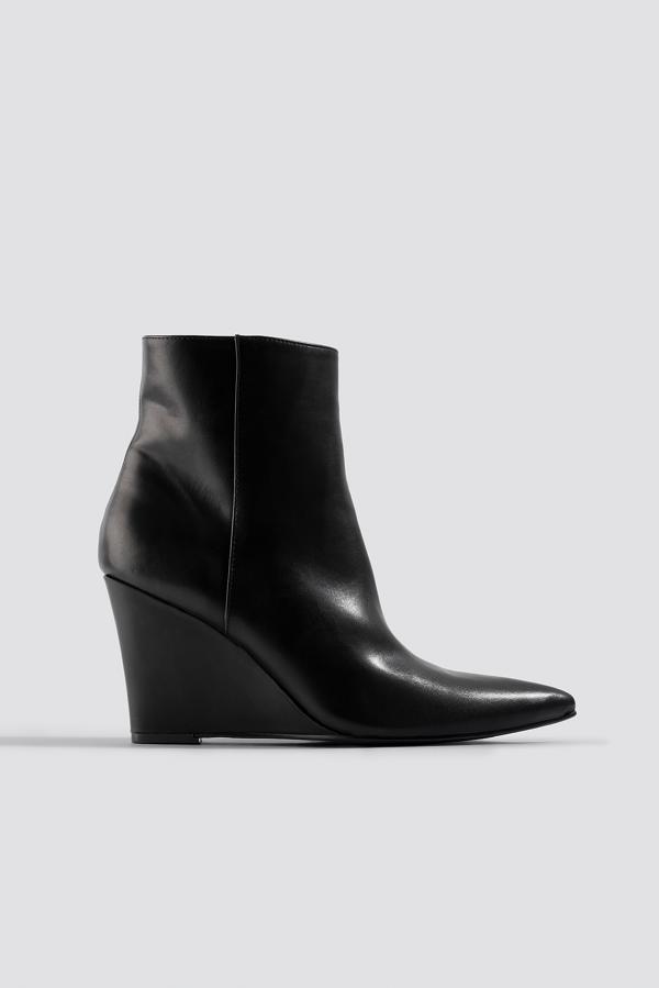 Na-kd Wedge Heel Boots Black