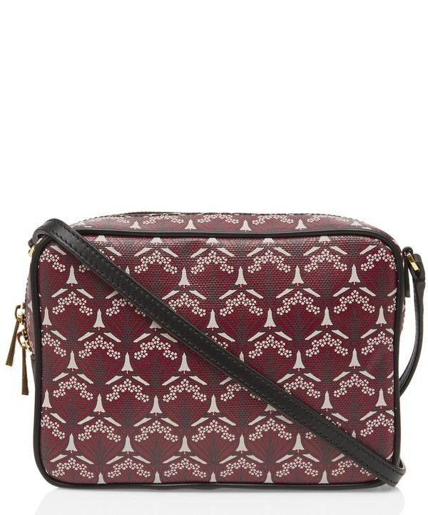 Liberty London Maddox Iphis Canvas Cross-Body Bag In Red