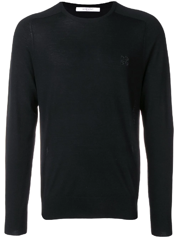 Givenchy 4G Wool Crewneck Sweater In Black