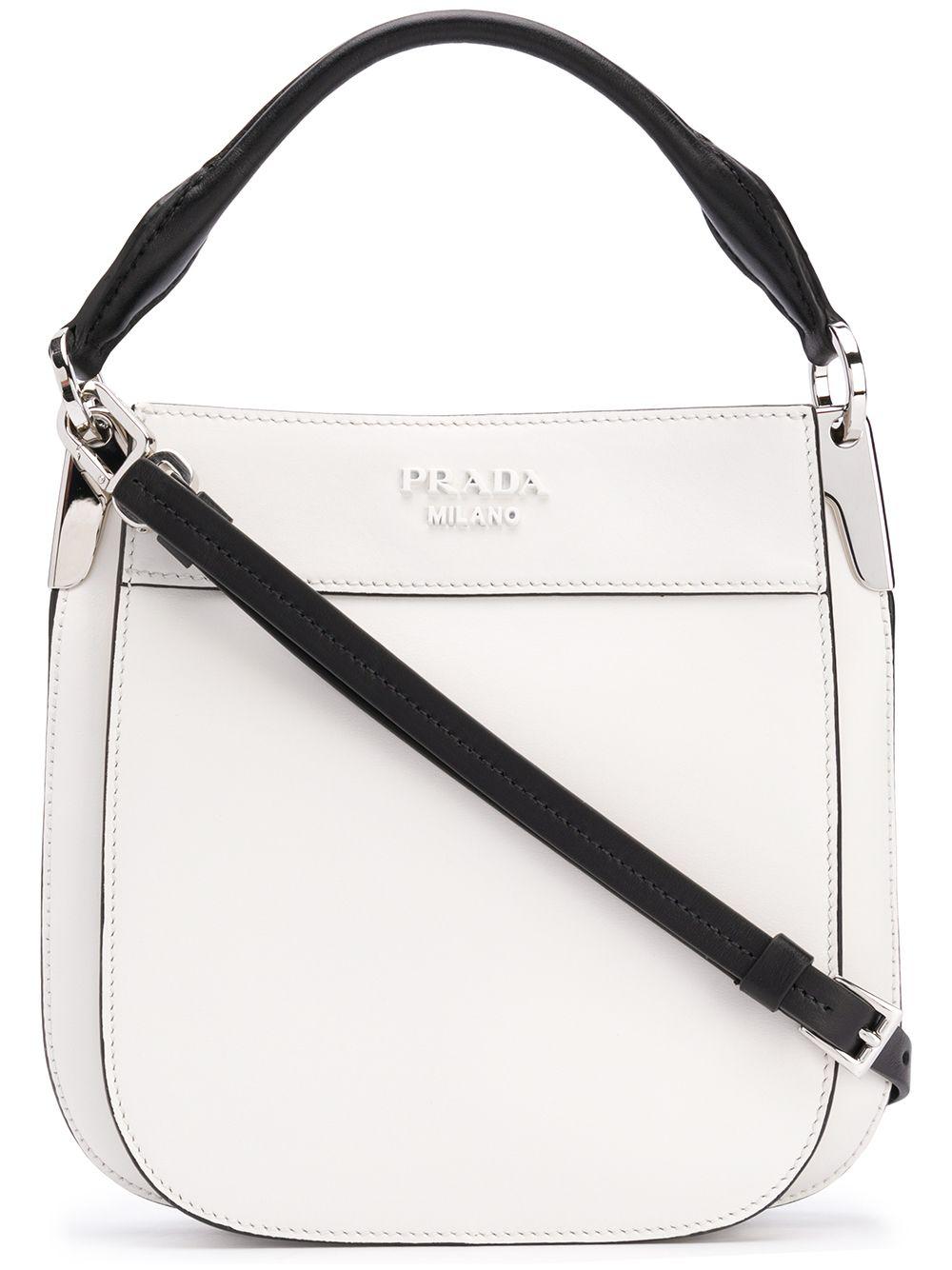 40cd7f8107cc Prada Front Logo Messenger Bag - White   ModeSens