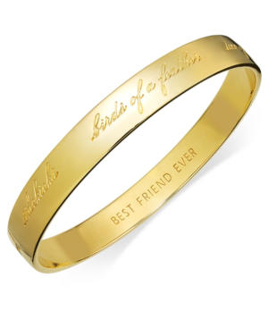 Kate Spade 'idiom - Happily Ever After' Bangle In Gold-tone