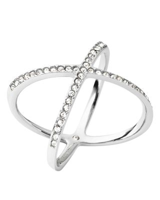 Michael Kors Pave X Ring In Silver
