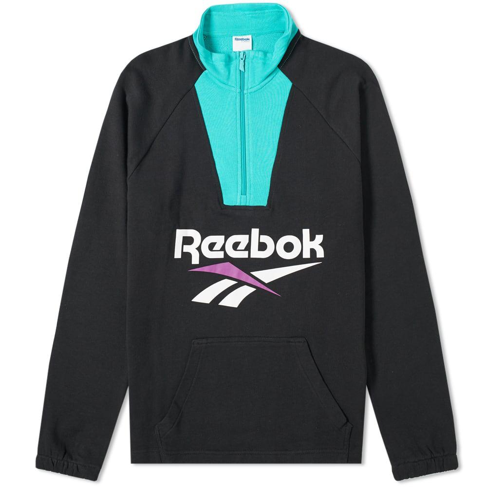 df569a4d4bb Reebok Vector 1 4 Zip Sweat In Black