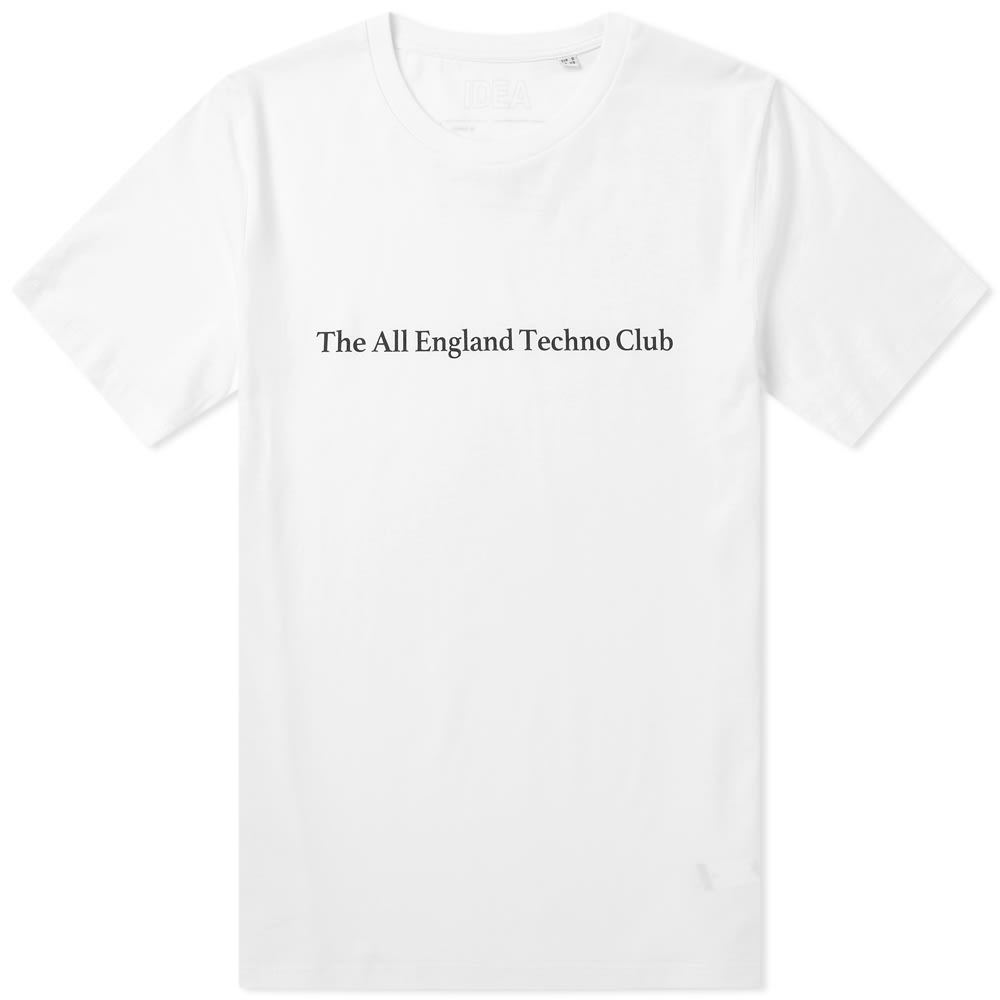 Idea All England Techno Club Tee - End. Exclusive In White