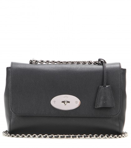 Mulberry Lily Medium Leather Shoulder Bag In Llack-Silvrtoee