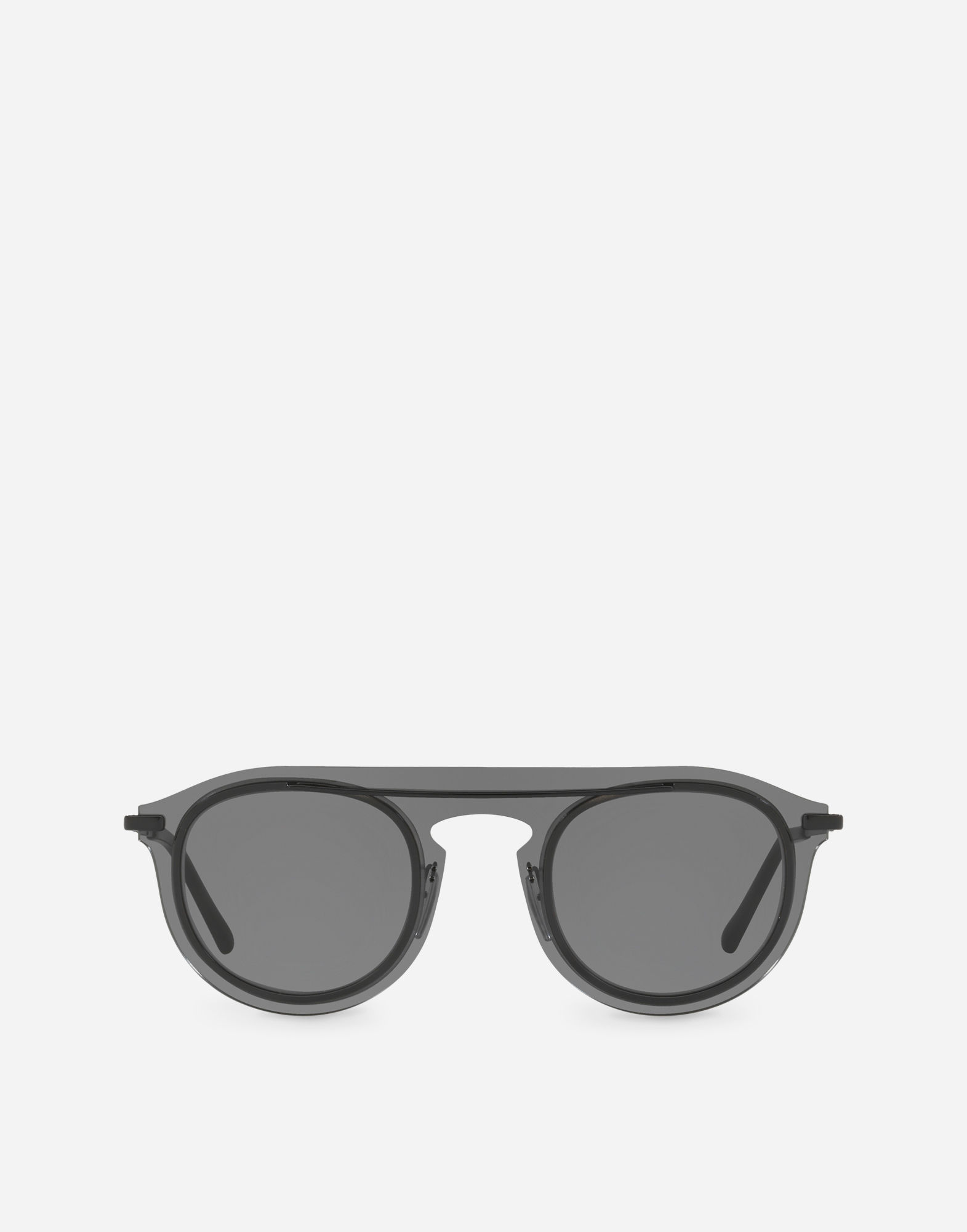 29867586a6f1 Dolce   Gabbana Panthos Sunglasses In Metal And Acetate In Smoke ...