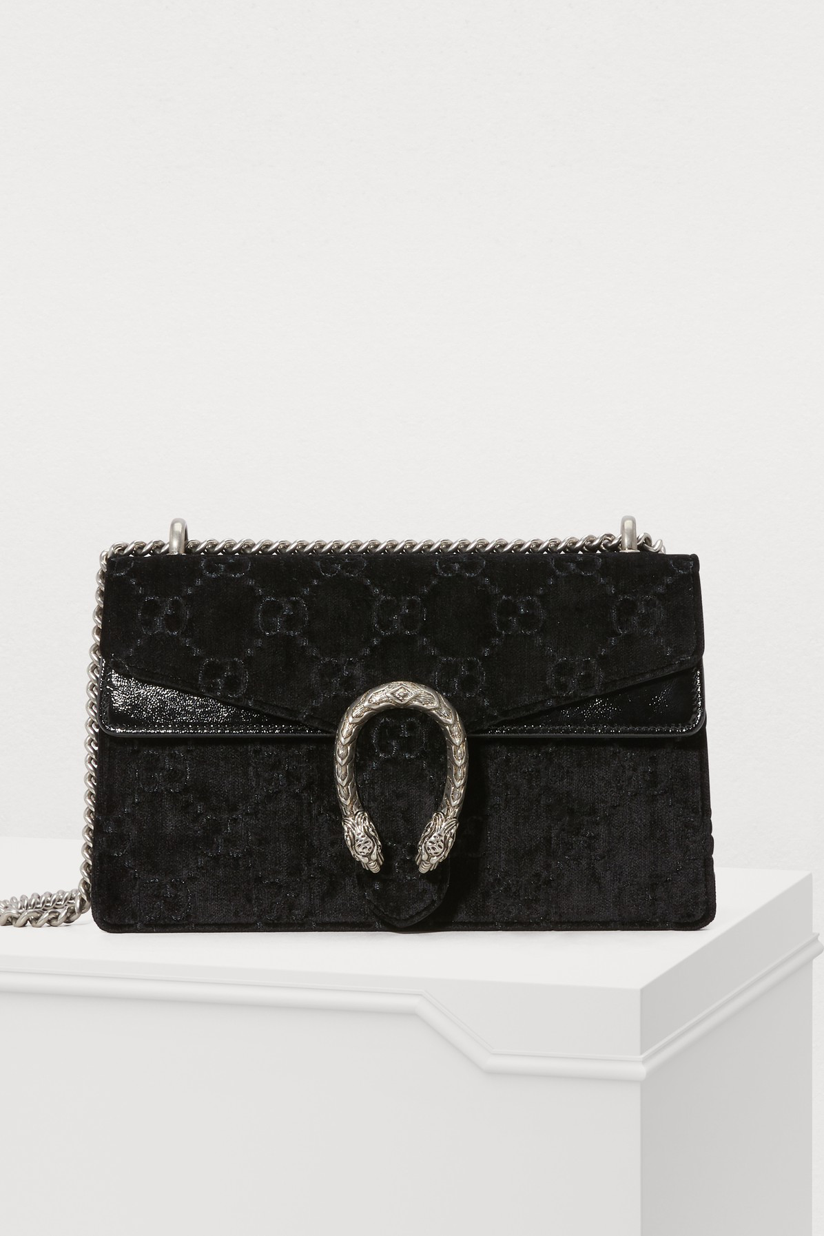Gucci Small Dionysus Gg Velvet Shoulder Bag - Black  d90e726811e82