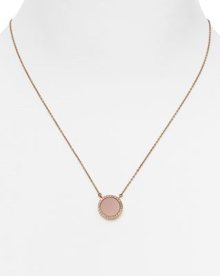 Michael Kors Pendant Necklace, 16 In Rose Gold