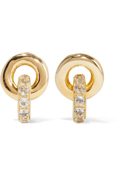 Elizabeth And James Woman Gold-plated Topaz Earrings Gold