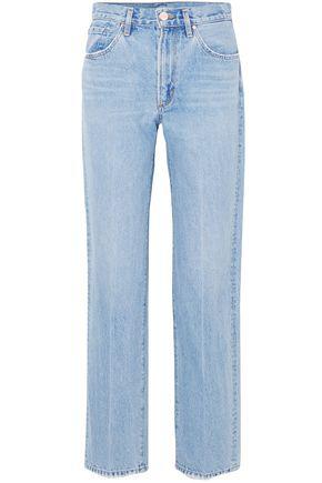 Goldsign High-rise Straight-leg Jeans In Light Denim