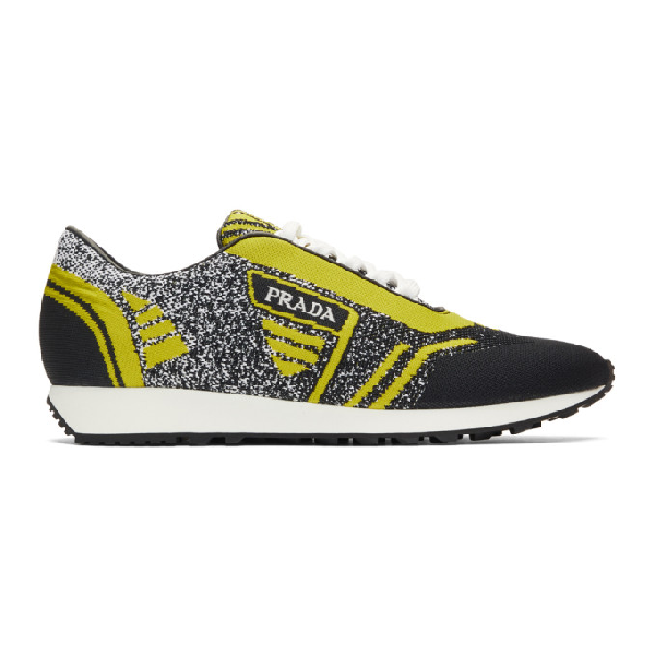 Prada Knit Jacquard Fabric Low Top Sneakers In F0c5z N Gia
