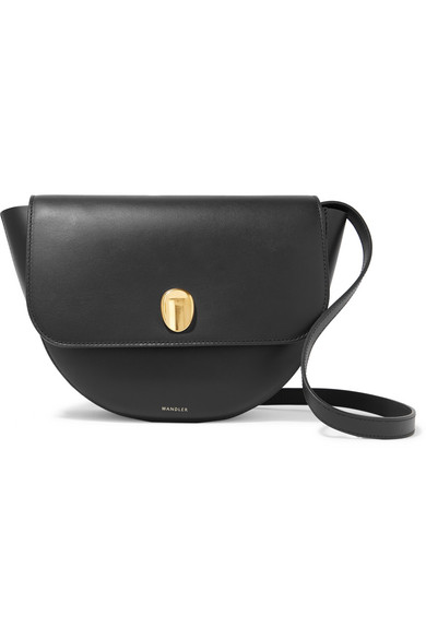 Wandler Billy Leather Shoulder Bag In Black