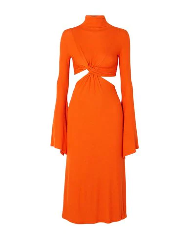 Sid Neigum Twist-front Ribbed Stretch-jersey Dress In Orange