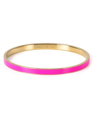 Kate Spade 'idiom - Hot To Trot' Ultra Thin Enamel Bangle In Pink