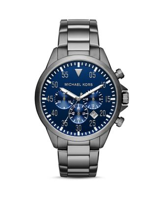 Michael Kors Gage Chronograph Watch, 45mm In Navy
