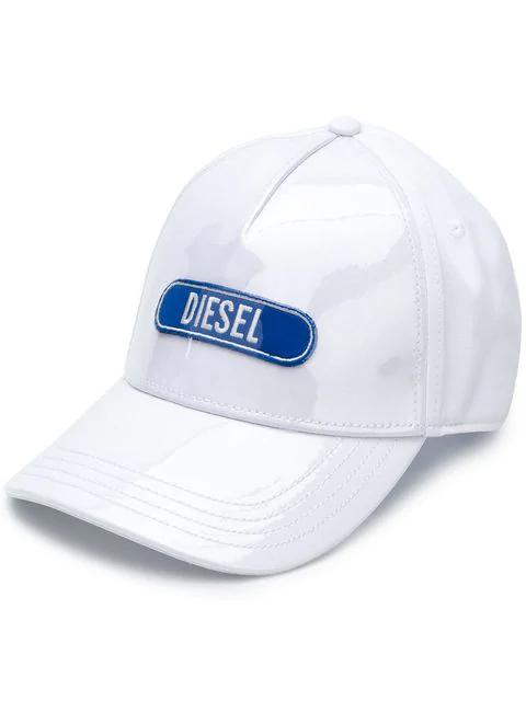 Diesel Logo Baseball Cap In White
