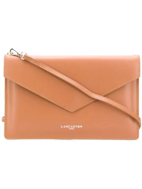 Lancaster Envelope Clutch Bag In Brown